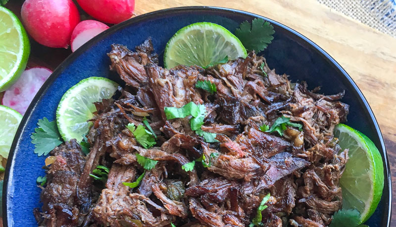 Easy Slow Cooker Mexican Shredded Beef