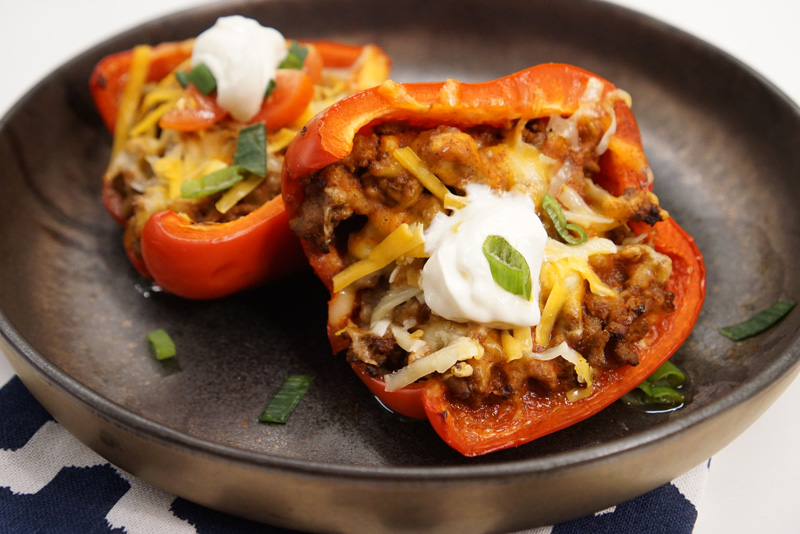 Low-Carb Taco Stuffed Peppers