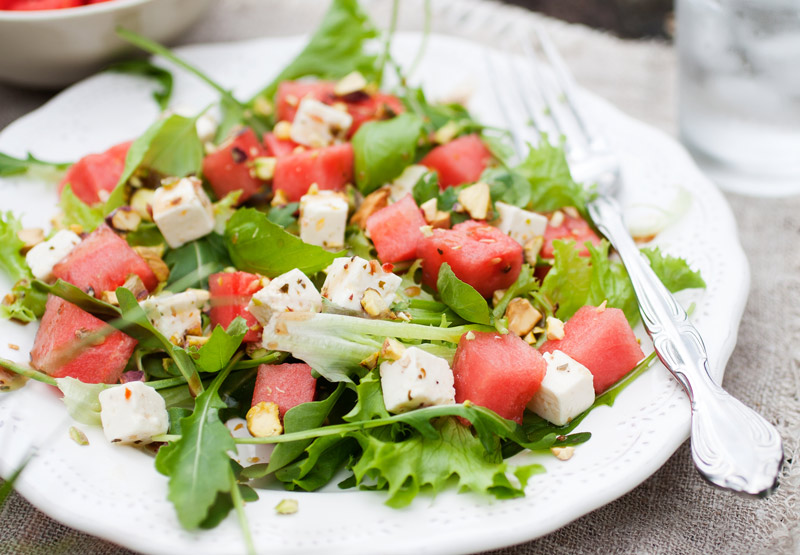 Watermelon, Arugula & Feta Salad