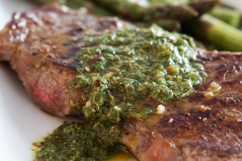 Homemade Keto Chimichurri with Grilled Steak