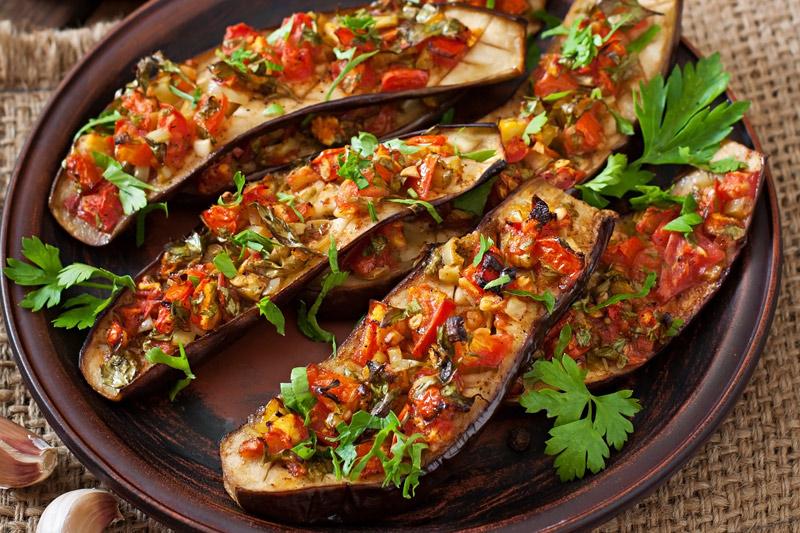 Easy Keto Stuffed Eggplant
