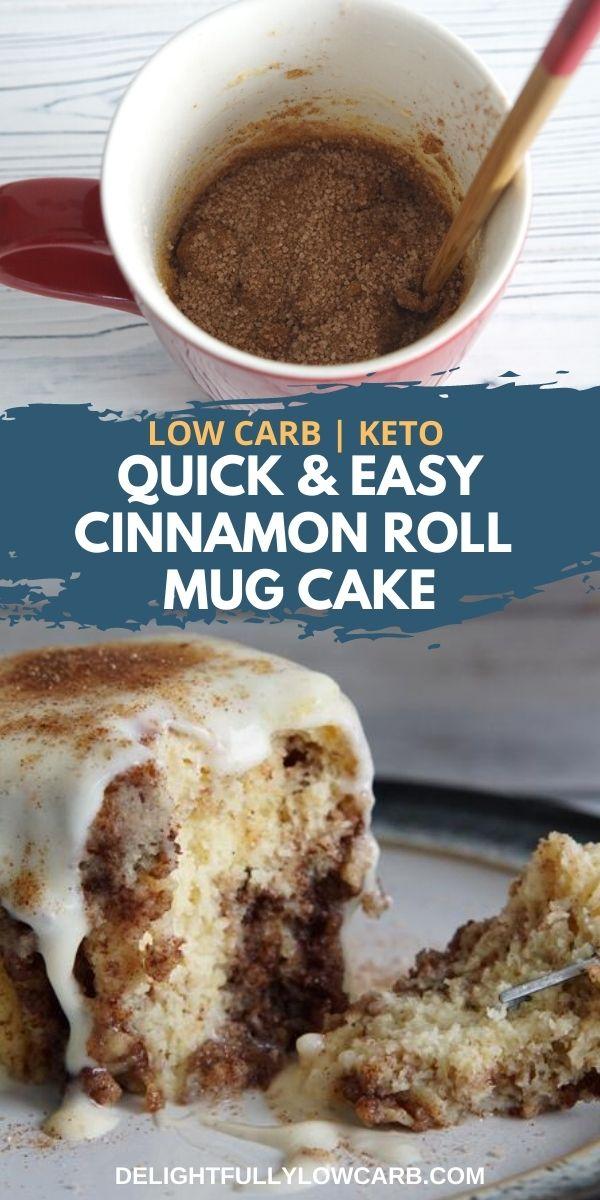 Keto Cinnamon Roll Mug Cake (Ready in 1 min ...