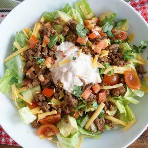 keto taco salad