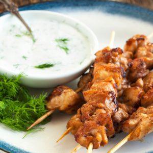 Mediterranean Grilled Chicken Skewers