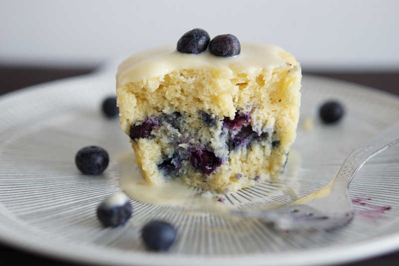 Keto Blueberry Mug Cake (Ready in 1 min!)