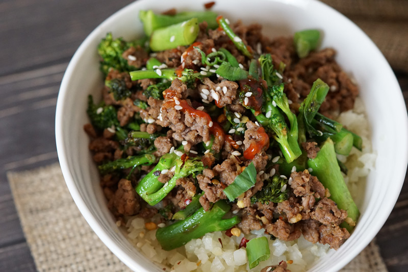 Low Carb Ground Beef & Broccoli