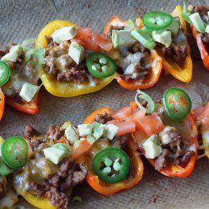 Mini Pepper Nachos